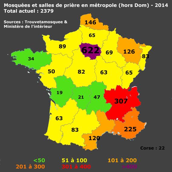 Mosquées 2014 régions