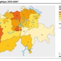 Accroissement pop Suisse 2010-2035